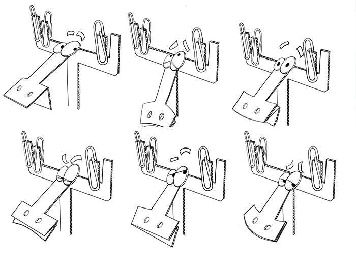 Галерея изображений из мультфильма «Бумажки»
