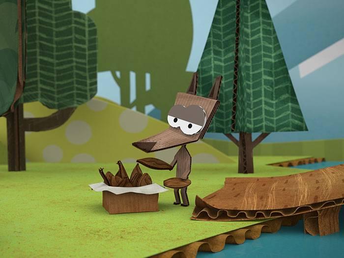 Кадры из мультфильма «Бумажки»