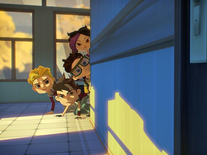Кадры из мультфильма «Герои Энвелла»